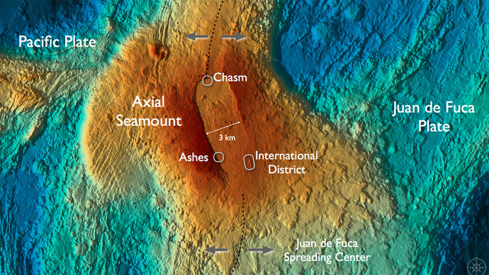 Axial Volcano and Associated Vent Fields