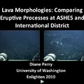 Diane Perry: Comparison of Lava Morphology at ASHES and International District