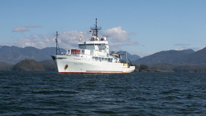 The Research Vessel the Thompson in Nootka Sound